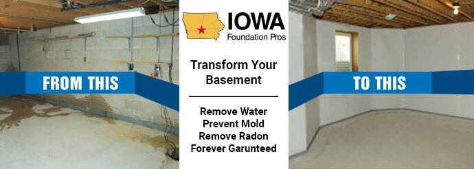 Iowa Basement Waterproofing